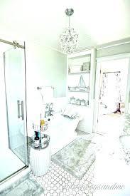 chandelier over bathtub crystal light shower medium size of chandeliers bedroom