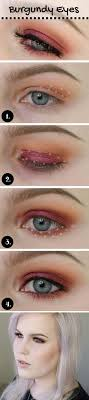 wedding makeup for blue eyes warm and burgundy eyeshadow with lips makeup tutorial