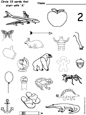 atiny phonics picture dictionary, activities and worksheets to print on e sound worksheet