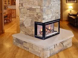 three sided gas fireplace fireplace ideas