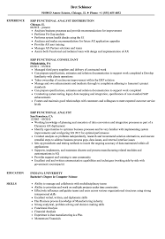 Example Of Functional Resumes Erp Functional Resume Samples Velvet Jobs