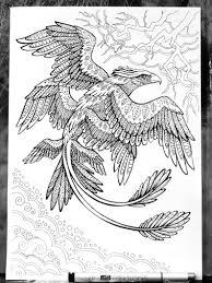 Frank De Thunderbird Fabeldieren Volwassen Kleurplaten Pagina Etsy
