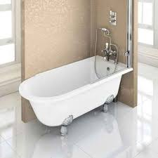 burlington hampton roll top shower bath with luxury feet