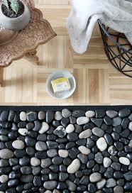 diy pebble bath mat bath rug with river stones