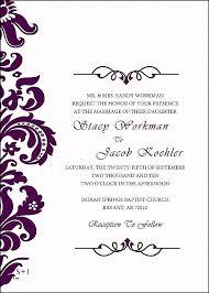 Wedding Invitation Card Samples Free Samples Wedding Invitation