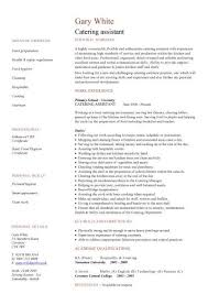 Assistant Resume Catering Assistant Cv Sample Kitchen Catering Environment