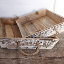 jarita mango wood tray distressed white large 7x46x31cm