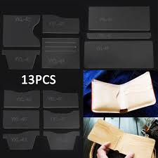 acrylic diy moldeling leather template set leather wallet pattern leather craft 4 4 of 4 see more