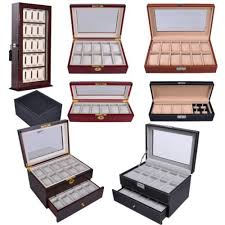 17 best ideas about watch box mens watch box 4 6 10 12 20 24 wood leather watch case glass acrylic top display
