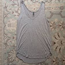Riller Fount Grey Tank Top In Soft Modal Fabric