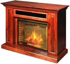 image of amish electric fireplace insert