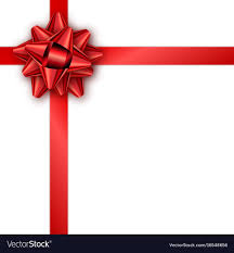 Red Ribbon Design Holiday Gift Card With Red Ribbon And Bow