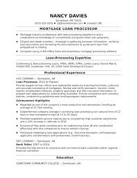 Mortgage Loan Processor Resume – Resume Tutorial