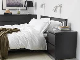 Ikea black bedroom furniture Luxury Ikea Malm Bedroom With KrÄmare Wall Lamps More Pinterest Ikea Malm 2drawer Chest Blackbrown In 2019 Home Decorations