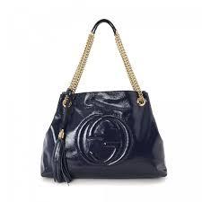 gucci bags soho. 1448612-gucci-soho-chain-shoulder-bag -interlocking-gg-navy-patent-leather-shoulder-bags-625b8f05.medium.jpg gucci bags soho