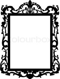 mirror frame outline. Square Clipart Mirror Frame Outline