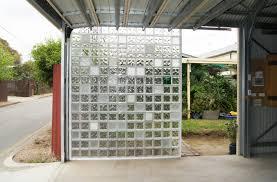carport glass block screen wall
