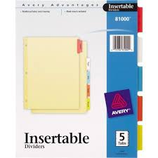tab index cards avery 3 hole 5 tab divider dividers index cards at