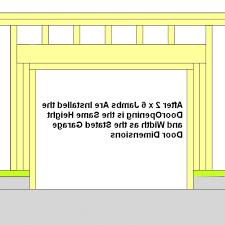 garage door sizes rough opening subversia net