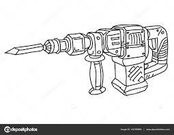 Cartoon Elektrische Hamer Boor Stockvector Illustratorhft