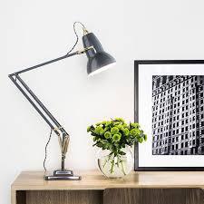 anglepoise lighting. anglepoise original 1227 brass desk lamp elephant grey lighting direct