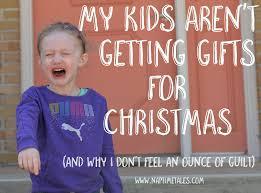 no gift christmas