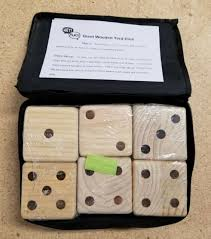 giant wooden yard dice outdoor lawn game by hey play new sealed