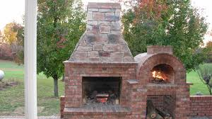 outdoor brick fireplace with oven