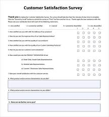 Free Customer Satisfaction Survey Client Satisfaction Survey Template Acepeople Co