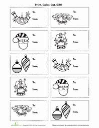Printable Holiday Gift Tags | Worksheet | Education.com
