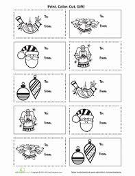 Printable Holiday Gift Tags | Worksheet | Education.com