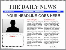 Newspaper Front Page Blank Template 30 Newspaper Front Page Template Tate Publishing News