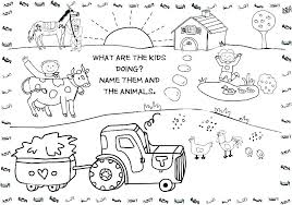 Barn Animals Coloring Pages Coloring Pages Farm Free Printable Barn