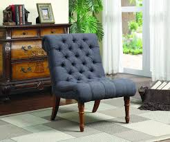 casual armless accent chair dark grey living room den bedroom crafted classic