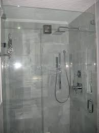 Bathroom, Bathroom With The Idea Of The Small Size Of The Door Glass  Rainfall Shower