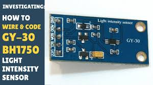 Light Intensity Arduino Tutorial How To Wire Code Gy 30 Bh1750 Light Sensor Gy30 Gy302 Easy Arduino Module