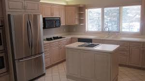 Finishing Kitchen Cabinets Refinishing Oak Cabinets Before And After Pictures Monsterlune