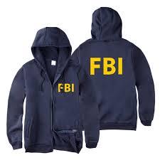fashion Zipper <b>Men women</b> Hoodies Sweatshirts FBI <b>Print</b> sport hip ...