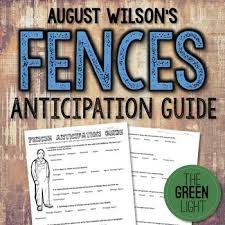 fences by wilson anticipation guide critical thinki tpt  fences by wilson anticipation guide critical thinki