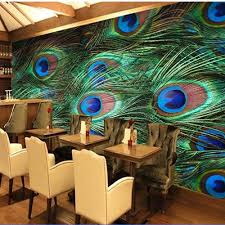 Peacock Colors Living Room Popular Peacock Wall Paper Buy Cheap Peacock Wall Paper Lots From