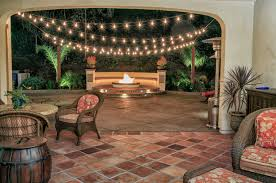 spanish style fire pit with concrete