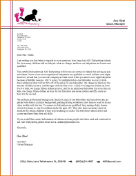 Letter Format With Letterhead Sample Business Heading Contract