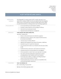 Accounting Internship Resume Tomyumtumweb Com