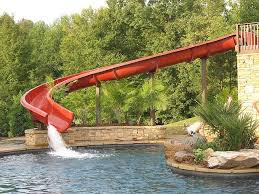 backyard pool with slides. WOW...pool \u0026 What A Slide!!! Backyard Pool With Slides
