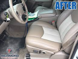 2003 2006 gmc yukon yukon xl denali leather seat cover driver bottom 2 tone tan