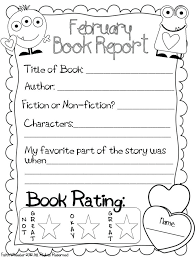 First Grade Book Report Template 4 Professional And High Quality ...