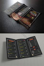 Cool Black Western Restaurant Pizza Shop Tri Fold Menu