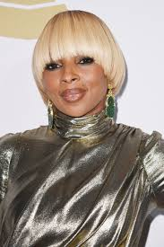 mary j blige bowl cut