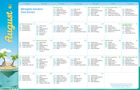 Westgate Gardens Care Center - Calendar Of Events
