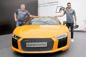 new car launches audiGutshot Virat Kohli launches Audi R8 V10 Plus  Gutshot